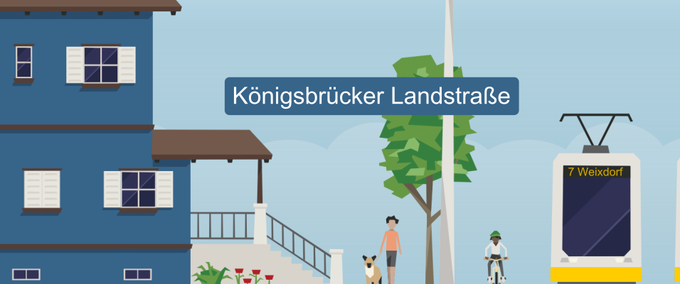 Königsbrücker Landstraße: Bürger für durchgängigen Radfahrstreifen nach Weixdorf